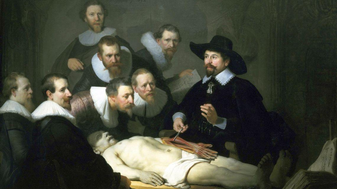 Lecţia de anatomie a doctorului Tulp (1632, Mauritshuis, Haga)