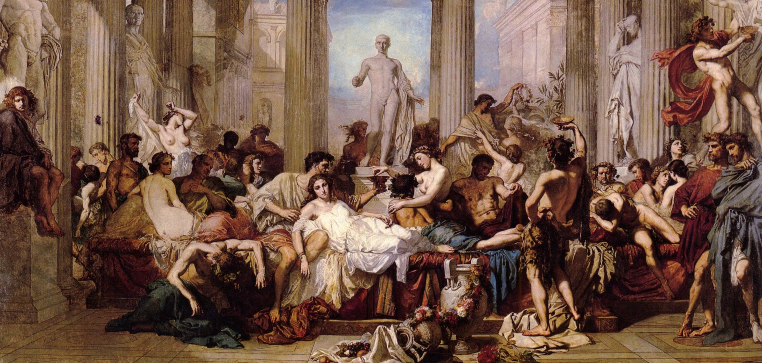 Thomas Couture: Romans in Decadence of Empire (1847)