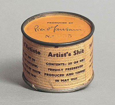 On May 1961, Piero Manzoni tinned 90 cans of freshly preserved shit. In October 2008, tin #083 was offered for sale at Sotheby's with an estimate of GBP 50-70,000.