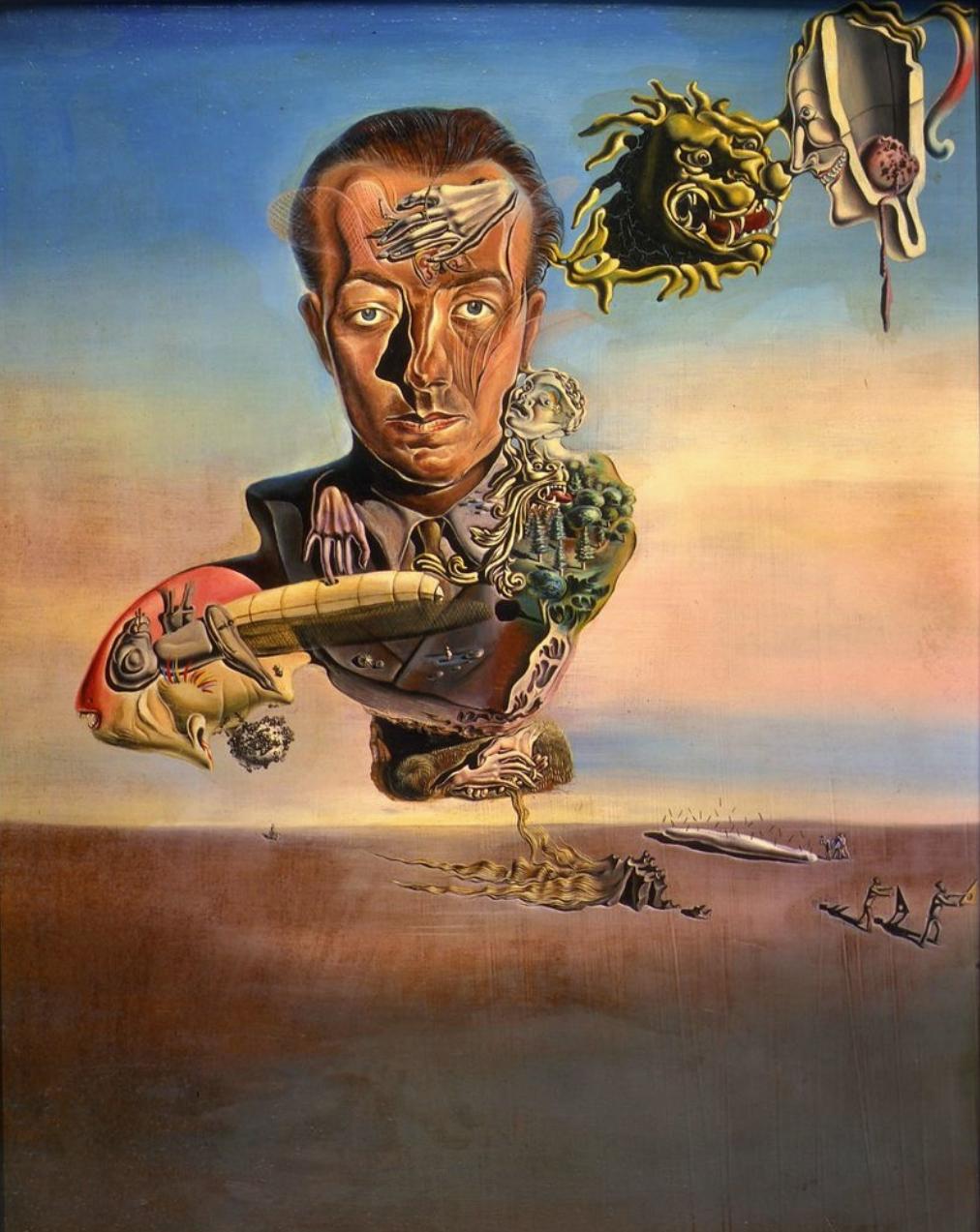 Portretul lui Paul Eluard (1929), Fundació Gala-Salvador Dalí.