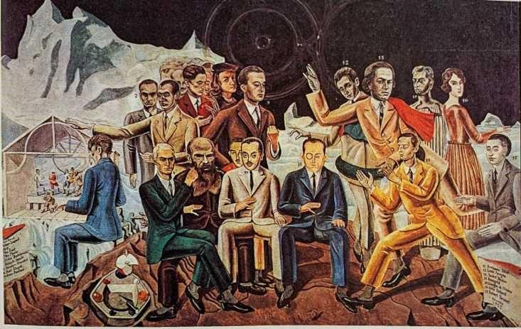 Max Ernst, întâlnirea cu prietenii (1922), Colonia, Muzeul Wallraf Richartz