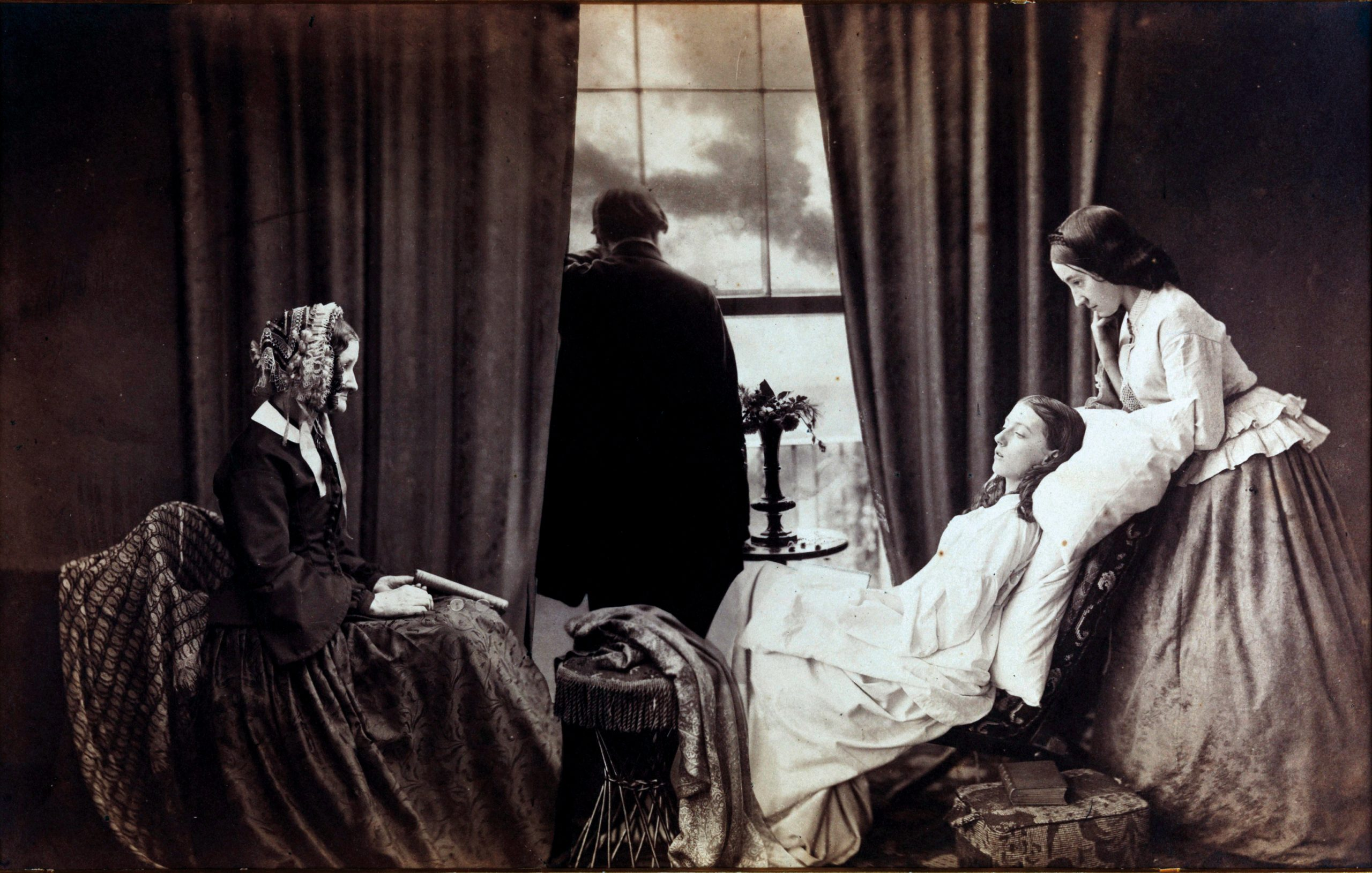 "(Img.2) - Henry Peach Robinson - ""Fading Away"" 1885 (Estompare)"