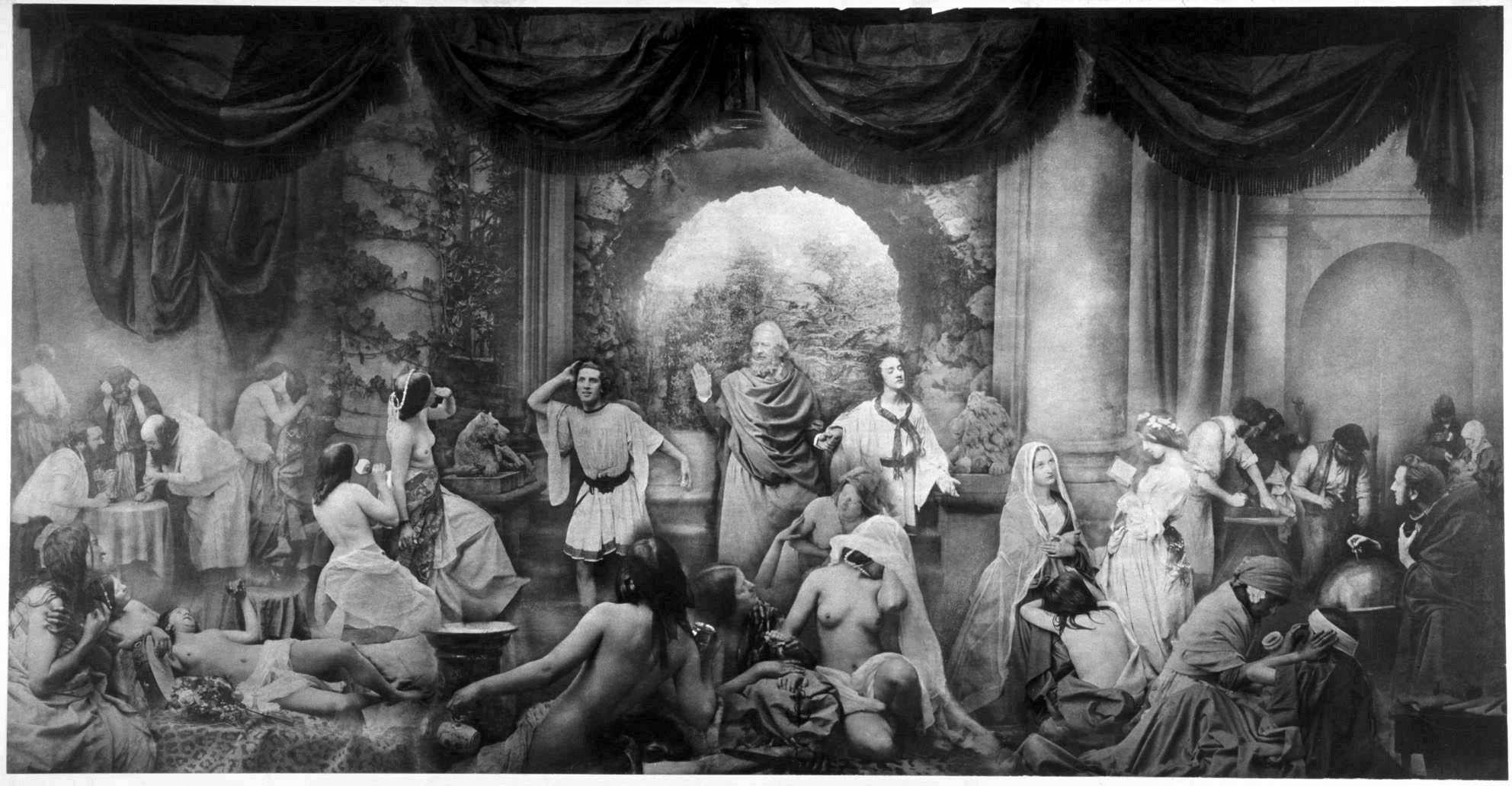 """(Img. 1) - Oscar Gustave Rejlander - """"The Two Ways of Life"""" 1857 (Două moduri de viață)"""