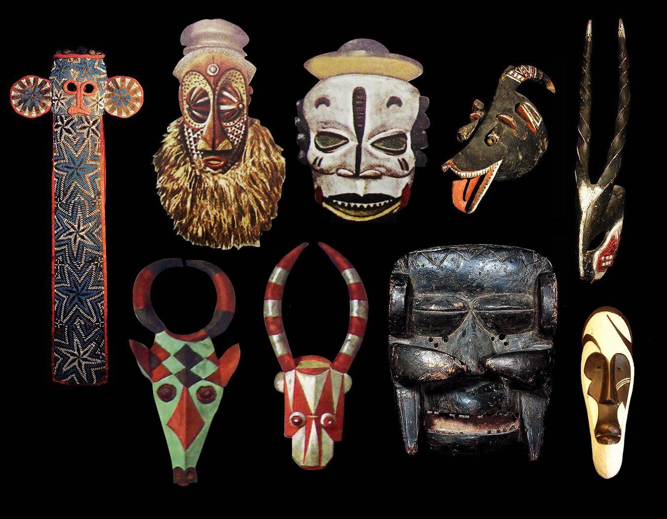 Măști din diverse triburi africane